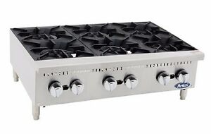 Atosa Athp 36 6 Commercial 36 6 Burner Hot Plate Countertop Range Gas