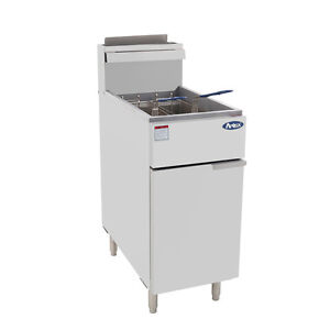 Atosa Atfs 50 Commercial 50lb Nat Gas Deep Fryer