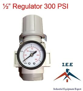 New 1 2 Inline Air Compressor Regulator Pressure Gauge