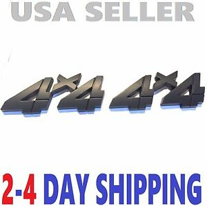 X2 Black Smoked 4 X 4 Emblem 4x4 Truck Logo Decal Sign Self Adhesiv Fit All Cars