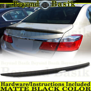 2017 2016 2015 2014 2013 Honda Accord 4dr Matte Black Factory Style Spoiler Wing