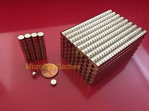 500 6 X 3mm approx 1 4 X 1 8 Strong Rare Earth Neodymium Disc Magnets Neo