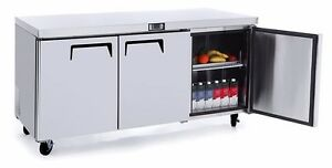 Atosa Mgf8404 Commercial 72 Stainless Steel 3 Door Undercounter Refrigerator
