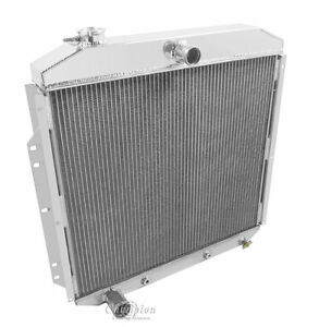 Best Cooling 2 Row Radiator With 1 Tubes For 1953 56 Ford Truck
