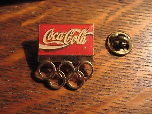 Coca Cola Olympics Pin - Vintage Coke Olympic Games Soda Pop Lapel Hat Sports