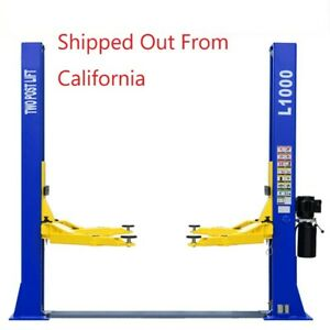 10 000 Lb Capacity L1000 Two Post Car Lift Auto Truck Hoist