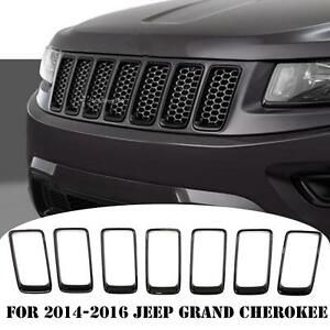 For 2014 2016 Jeep Grand Cherokee Front Grille Grill Vent Hole Trim Ring Insert