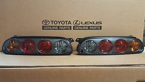 Toyota Supra 97 98 Style Mkiv Taillights Black Housings W harness And Bulbs
