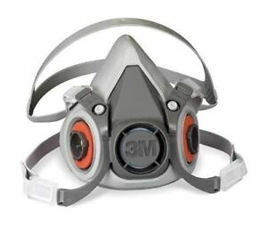 3m 6300 Series Reusable Respirator With 8 Pairs Of 2091 P100 Filters