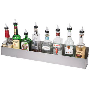 32 Stainless Steel Single Tier Commercial Bar Speed Rail Liquor Display Rack