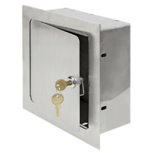 Acudor 8 X 8 X 4 Recessed Valve Box stainless Steel