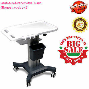 New Mobile Trolley Cart For Portable Machine Ultrasound Scanner wheels contec