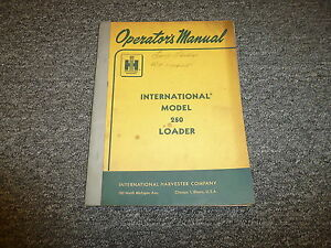 International Harvester 250 Crawler Loader Owner Operator Manual