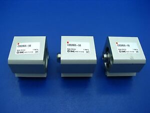 Smc Pneumatic Cylinder Spring Return lot Of 3 Cdq2b25 5s