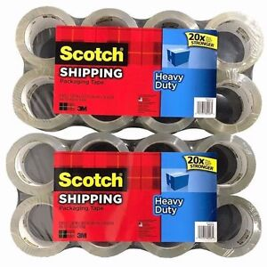 Scotch 3m Heavy Duty Shipping Packaging Tape 1 88in X 54 6yd 3 1 Mil 16 Rolls
