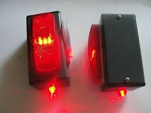 Pair Of Towaide Ta45 Wireless Tow Lights 5 5 Magnetic Tow Truck Wrecker S T T