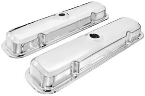 67 81 Gto Firebird Valve Covers New Pontiac Chrome Valve Covers Reproductions
