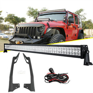 52inch 700w Led Light Bar mounting Bracket Fit Jeep Wrangler Jk Rubicon 07 17