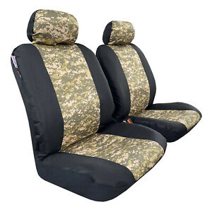 Army Camo Canvas Seat Covers For Toyota Tacoma 2005 2021 Front Seat Protectors