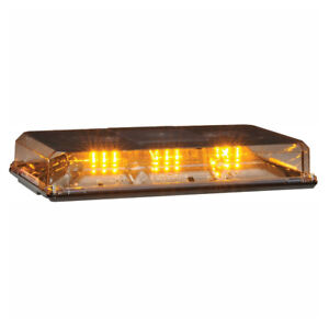 Federal Signal 454101hl 25 Highlighter Amber Led 15 Mini Lightbar Clear Lens