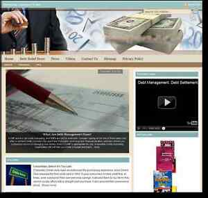 debt Relief Turnkey Website For Sale turnkeypages