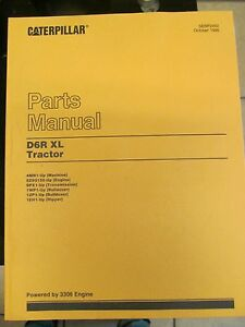 Parts Manual For D6r Xl Caterpillar Tractor