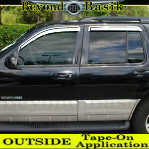2002 2010 Ford Explorer 4pc Chrome Door Vent Visors Rain Guards