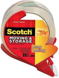 Scotch Moving Storage Tape Long Lasting 1 88 In X 38 20 Yd 1 Ea 8pk