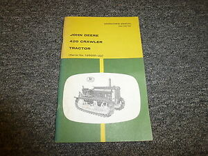 John Deere 420 Crawler Tractor Owner Operator Manual User Guide Omt42757
