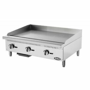 Atosa Atmg 36 Heavy Duty Stainless Steel 36 inch Manual Griddle Natural Gas