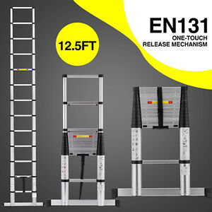 10 5ft Multi Purpose Aluminum Ladder Fold Step Extend Telescopic Garden Tools