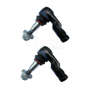 New Pair 2 Front Outer Steering Tie Rod Ends For Land Rover Lr3 Lr4 Lh Rh
