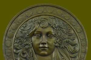 Hawaiian Honey With Flowers Bas Relief Bronze Masterpiece Sculpture For Wall