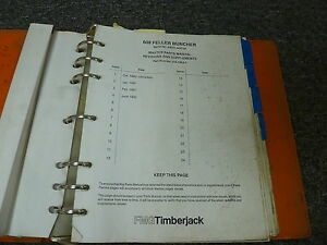 Timberjack 608 Feller Buncher Logging Master Parts Catalog Manual S n 54001 up