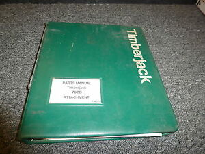 Timberjack 762c Harvester Head Attachment Parts Catalog Manual Book F048250