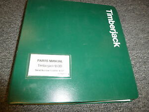 Timberjack 933d Clambunk Skidder Logging Parts Catalog Manual Book 1