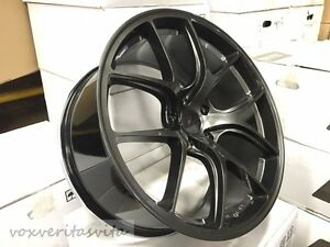20 Gunmetal Gtr Vortex Style Staggered Wheels Rims Fits 2015 Ford Mustang