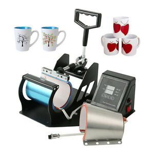 2 In 1 Heat Press Transfer Sublimation Machine Digital Display Cup Mug 11oz 12oz