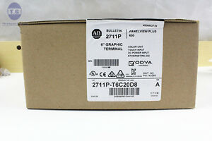 New Sealed Allen Bradley Panelview Plus 600 Catalog 2711p t6c20d8