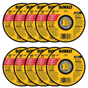 Dewalt Dw8062 4 1 2 X 045 X 7 8 Metal Cut off Wheel 100pk