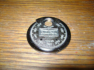 Vintage Champion Spark Plug Taper Gap Gauge Model Ct 481