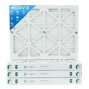 20x25x2 Merv 8 Pleated Ac Furnace Air Filters 4 Pack