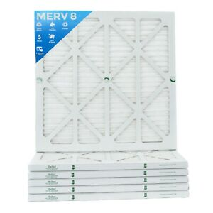 24x24x1 Merv 8 Pleated Ac Furnace Air Filters 6 Pack