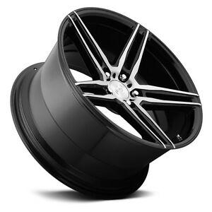 20 Niche Turin Black And Machined Wheels Rims And Tires Package 5x4 5 5 Lug