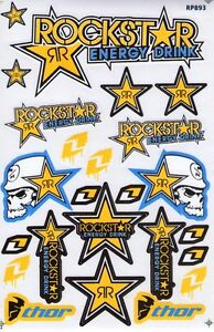 New Rockstar Energy Motocross Racing Graphic Stickers decals 1 Sheet st98
