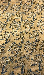 An Antique Silk Damask Brocaded Textile Tapestry Panel 17 18th Century
