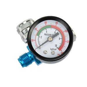 1x Digital Spray Paint Gun Regulator Air Pressure Gauge 1 4inch Hvlp Compressor