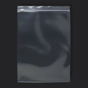 25 Pack 9 x12 Reclosable Clear Plastic Poly Zipper Bags Super Heavy Duty 8 Mil