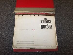 Terex 72 51 Front End Loader Tractor Factory Original Parts Catalog Manual Book