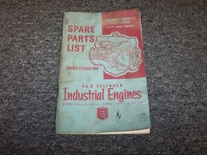 Ford 4 6 Cylinder Industrial Engine Original Spare Parts Catalog Manual Book